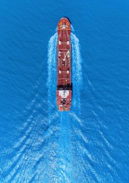 Sky view of a ship