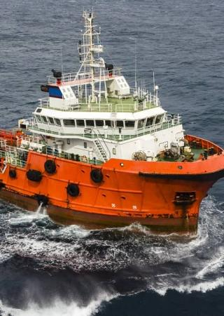 OSV operating at Sea