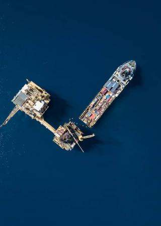Sky view of an OSV