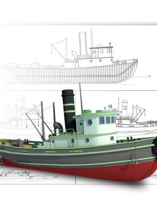 Naval architecture drawings