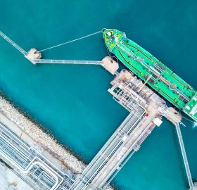 Sky view of a LNG