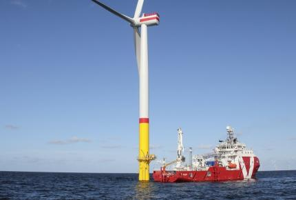 Offshore wind and an offshore vessel